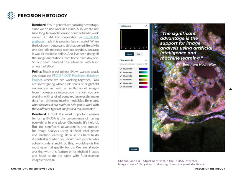Preview of Precision Histology Interview by KML Vision